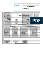 Informe Tecnico y Servicio Hvac