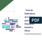 Indicadores de Escuela Inclusiva DUA