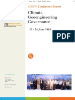 Climate Geoengineering Governance - CEEW Conference Report