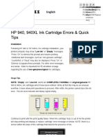 INKJET411 _ HP 940, 940XL Ink Cartridge Errors & Quick Tips