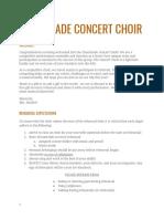 Concert Choir Contract