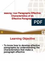 3 Making Your Paragraphs Effective