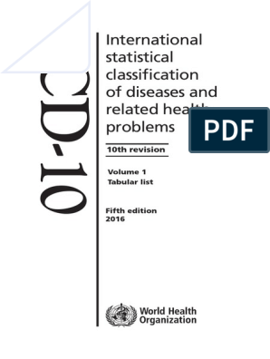 ICD10 | International Statistical Classification Of Diseases And