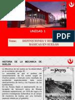 Unidad 1-Definiciones y Relaciones Basicas en Mecanica de Suelos 2018-1