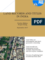 Land Records and Titles in India