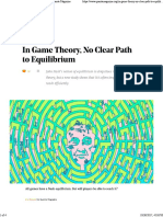 No Clear Path to Equilibrium in Game Theory