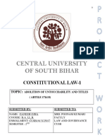 Constitutional Law Project Untouchability and titles