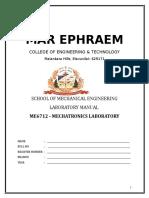 ME6712 Mechatronics Lab Manual