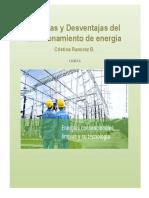 Ventajas y Desventajas del almacenamiento de energía