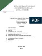 Syllabus Morfo i 2018-1