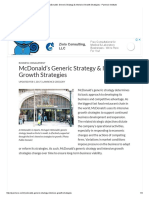 Ref Om McDonald's Generic Strategy & Intensive Growth Strategies - Panmore Institute
