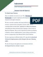 DeGenius - Introduction of Service