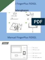 Manual Cara Daftar Karyawan FingerPlus FID92L