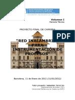 Red inalámbrica para instrumentación de procesos con XBee