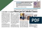 Un asse Urbino-Mosca per la Cattedra Unesco / In mostra i giardini dei Duchi di Urbino - Il Resto del Carlino del 27 marzo 2018