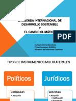 Agenda Internacional de Desarrollo Sostenible y El Cambio Climático