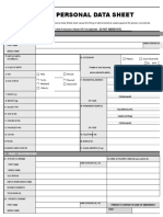 Personal Data Sheet Page1 Only