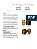 Modelling and Rendering Techniques for African Hairstyles