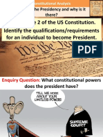 1. Constitutional Powers