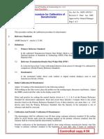 Densitometer Calibration Procedure(17)