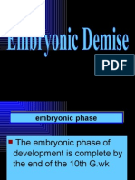 Embryonic Demise