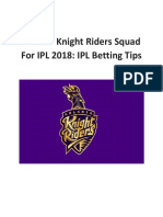 Kolkata Knight Riders Squad for IPL 2018