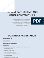 Vat Flat Rate Scheme and Other Related Issues