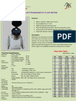 Battery operated electromagnetic flow meter | SS1020 |Manas Microsystems Pvt. Ltd.