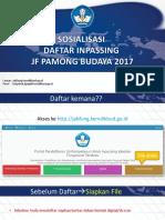 Materi Sosialisasi Registrasi Inpassing Pamong Budaya