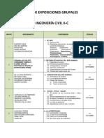 6. Rol Exposiciones Ing Civil II c