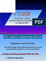 ATOMER Analysis Tests Consulting