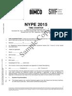 Sample Copy NYPE 2015