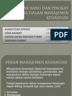 Peran Pasar Uang Dan Tingkat Bunga Dalam Manajemen