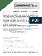 Fonctions Imbriquees en JS