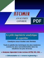 Présentation ATOMER Analyse & Conseil