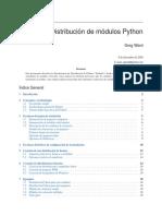 Distribucion de Modulos de Python