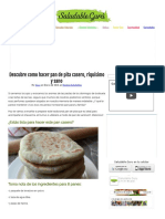 Descubre Como Hacer Pan de Pita Casero, Riquísimo y Sano - Saludable