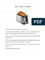 How to Use a Toaster