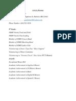 activity resume