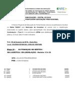 Edital de Convocação Nº 05-2018 Para Distribuição de Aulas e Contratação - Fase II - Professores QPM e PSS - Educação Profissional - Carambeí - 09-02-2018
