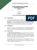 2. Estatuto Orgánico Sistema Educativo Policial (Bolivia)