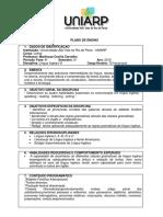 Plano de Ensino de Língua Inglesa VI-2012