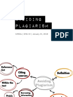 Sixth Meeting - Avoiding Plagiarism (Part II - Citing Your Sources)