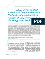Relationships Between Stock Returns and Corporate Financial Ratios Based on a Statistical Analysis of Corporate Data from the Hong Kong Stock Market