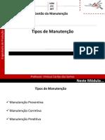 Módulo 3.0 - Tipos de Manutenção