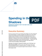 Spending in the Shadows FY19 Executive Budget - Executive Summary