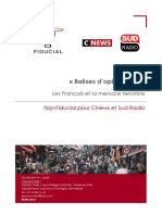 Les Français et la menace terroriste, mars 2018