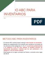 Metodo ABC Para Inventarios