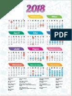 Kalendar 2018 New