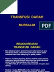 Transfusi Darah Trombosit